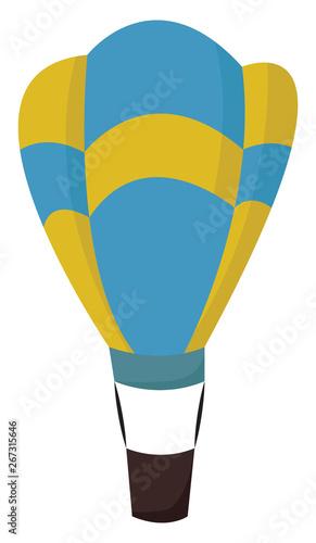 Fotografia A hot air balloon , vector or color illustration