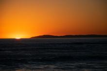 Sun Setting Over Ocean