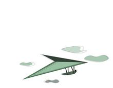 Hang-glider, Vector Or Color Illustration.