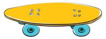 Skateboard, Vector Or Color Illustration.