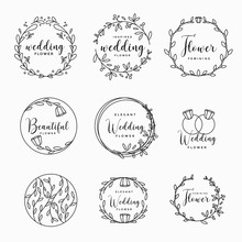 Feminine Floral Wedding Logo C...