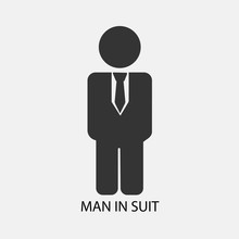 Man In Suit Vector Icon Solid ...