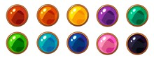 Shiny Colorful Round Gem With ...