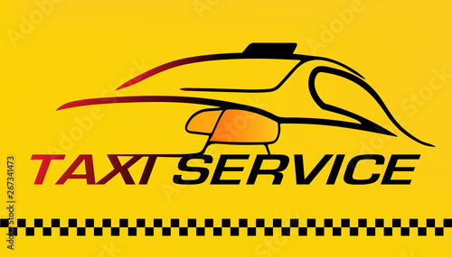 Photo Car, Taxi service logo or business card in vector format card