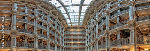 Fotografie, Obraz  Baltimore Peabody public library huge view