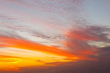 Panel Szklany Podświetlane Wschód / zachód słońca Jordania, Oriente Medio