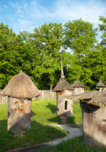 Old Traditional Wooden Beehives