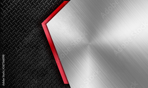Fotografia Modern metal framing background template