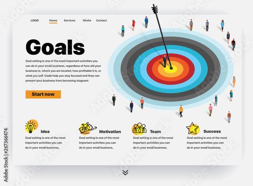 Photo  Website providing the service of goals