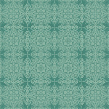 Seamless Vector Pattern Moroccan Tile Design In Blue And Teal