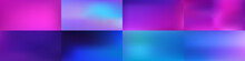 Set Of Smooth Abstract Colorful Mesh Backgrounds Vector Design