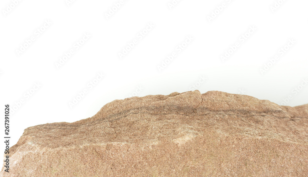 Fototapety, obrazy: Stone mountain isolated on white background, construction work decorate large buildings, Blank for design..