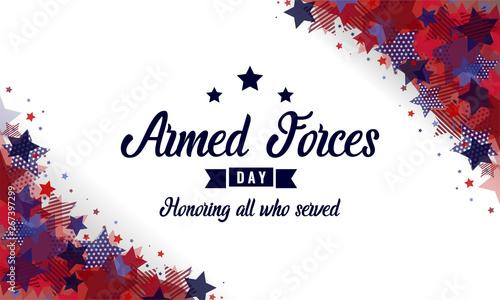 Fotografía  Armed forces Day card or background. vector illustration.