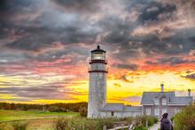Highland Lighthouse Sunset Cap...