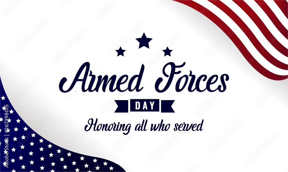 Fototapeta Armed forces Day card or background. vector illustration.