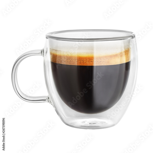 Mug with espresso coffee isolated Wallpaper Mural