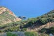 Greece Crete landscape mountains road panorama sea shore sun beach