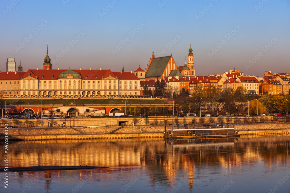 Fototapety, obrazy: Warsaw City Skyline at Sunrise in Poland