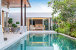 Leinwanddruck Bild - home or house building Exterior and interior design showing tropical pool villa with green garden and bedroom