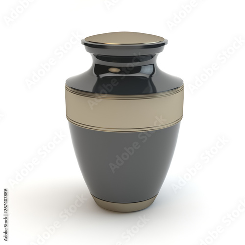Cremation urn isolated on white background, v2 Canvas