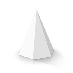 White hexagonal pyramid