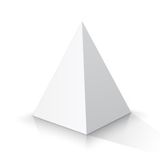 White square pyramid