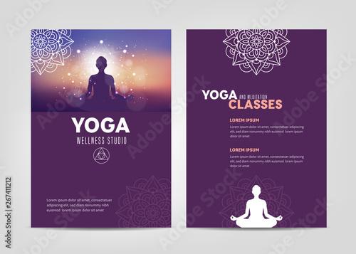 Fototapeta Wellness Studio Brochure Template obraz
