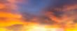 Leinwandbild Motiv Summer sky blur golden hour sky background hot sunset twilight with cloud and blurry warm bright lights skyline for evening sunset