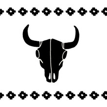 Vector Black Skulls Buffalo