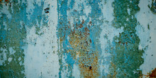Panorama Grunge Metal Green Texture And Background
