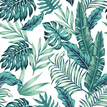Seamless Pattern Tropical Comp...