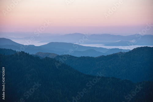 Mount Le Conte in Great Smoky Mountains National Park on the Border of Tennessee Canvas Print