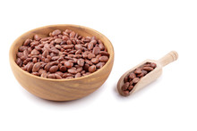 Pinto Beans In A Wooden Bowl I...