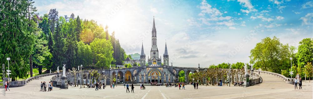 Fototapety, obrazy: Basilika Notre Dame in Lourdes