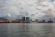 Rio de Janeiro, Brasil: Port with ships in Rio de Janeiro on a cloudy day