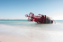 A Navigation Buoy Stranded On ...