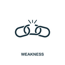 Weakness Icon. Creative Element Design From Business Strategy Icons Collection. Pixel Perfect Weakness Icon For Web Design, Apps, Software, Print Usage