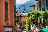 Fototapeta Uliczki - Old street of Salita Serbelloni in beautiful Bellagio, Como lake, Italy