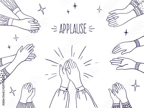 Doodle applause Tableau sur Toile