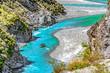 Schlucht mit dem Shotover River an der Skippers Canyon Road nördlich von Queenstown in der Otago Region auf der Südinsel von Neuseeland