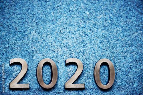 Valokuvatapetti Numbers of year 2020, new decade of 21st century