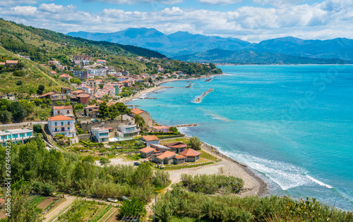 Photo Panoramic view of Agnone Cilento and coastline