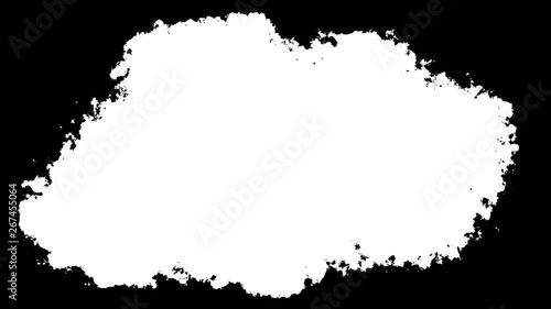 Fotografia  Abstract White Particles Explosion On Black Background