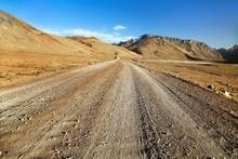 Pamir Highway Or Pamirskij Trakt Road In Tajikistan