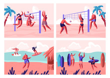 Beach Volleyball And Surfing S...
