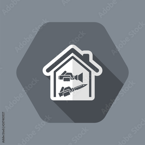 Home robbery Canvas Print