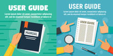 Modern User Guide Banner Set. ...