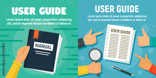 Obraz na plátně Modern user guide banner set