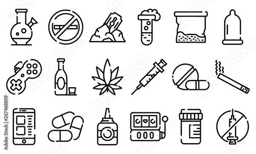 Photo Addiction icons set