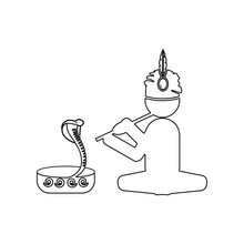 Snake Charmer Icon. Element Of...